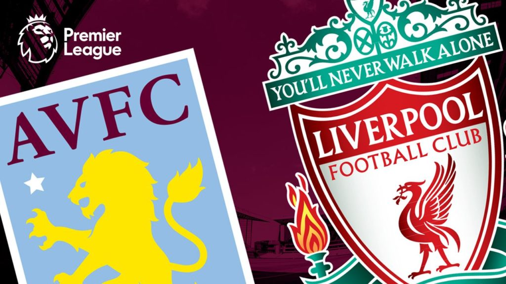 Liverpool and Aston Villa premier league